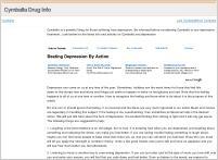 Cymbalta Drug Info